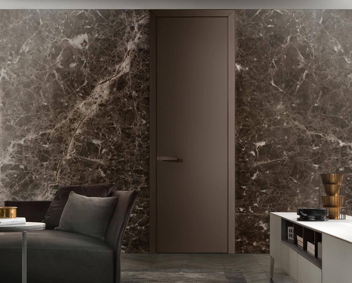 Puertas de diseño para interior Rimadesio Luxor en vidrio alta gama