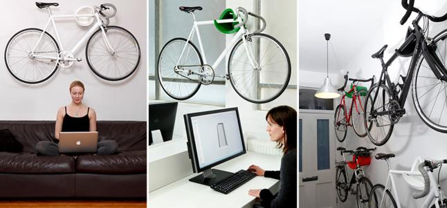 7 ideas decorativas para guardar tu bici en casa for Como guardar la bici en un piso