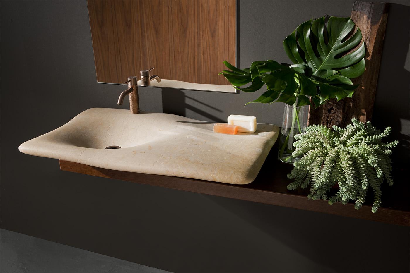 Lavabo Flow de Nerinea diseñado por Miguel Herranz