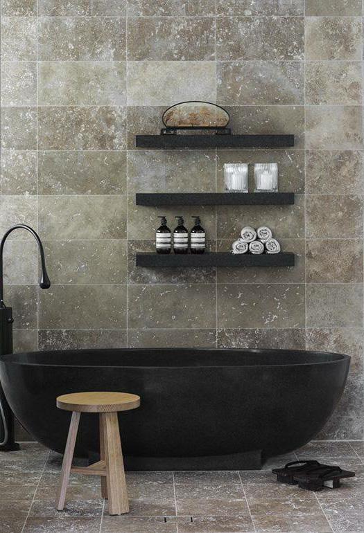 Nerinea Natural stone piedra natural proyecto baño