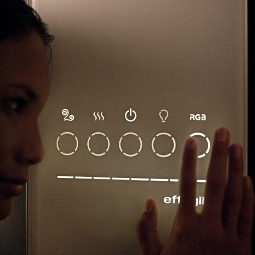 controles cromoterapia baño de vapor Effe