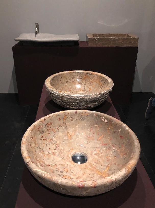 ejemplo de lavabo a medida en piedra Jurassic Stratum
