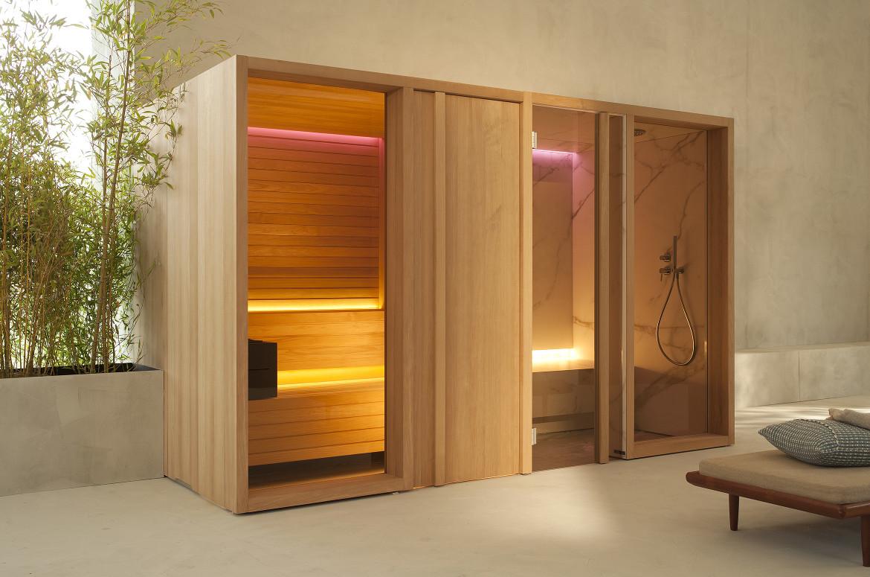 Sistema sauna y baño turco Pesaro de Effe