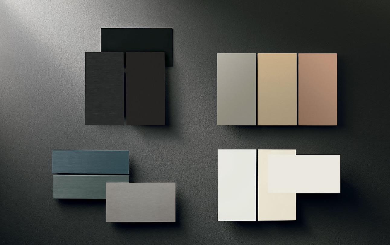 gama de colores para los marcos puerta blindada Nova de Oikos