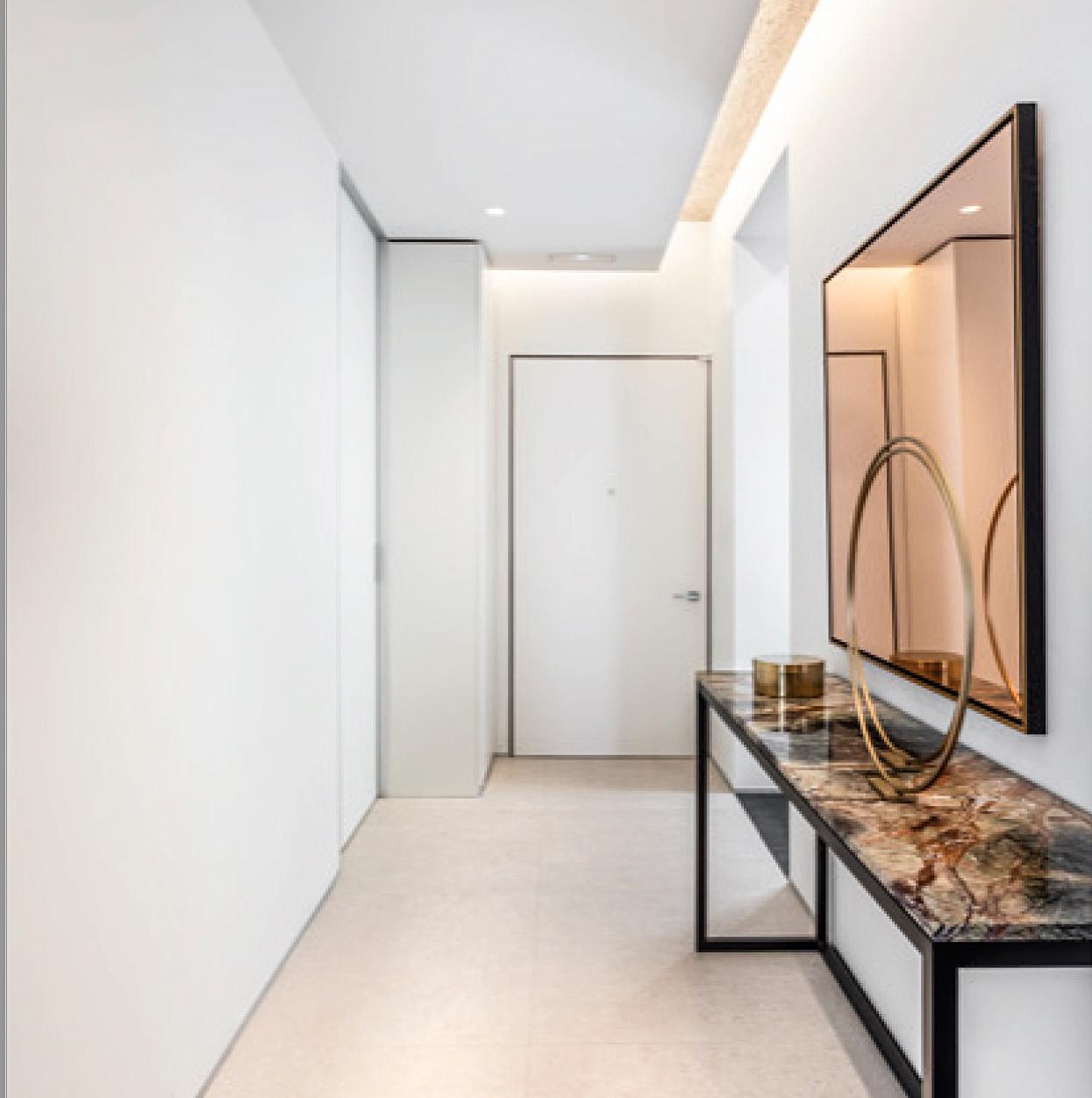 puerta replicada blindada vista interior