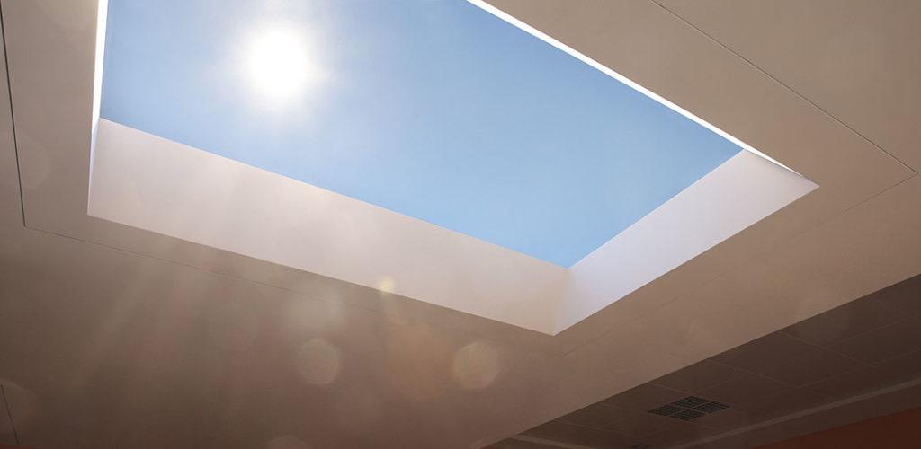 Coelux luminaria para techo que simula luz solar