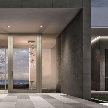 puerta blindada pivontante en vidrio Nova de Oikos